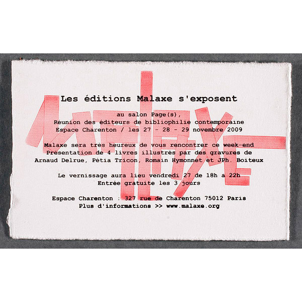 éditions malaxe, salon_pages